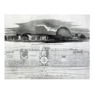 Building for the Great Industrial Exhibition Postcard