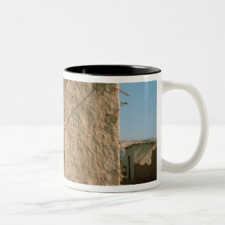 Building in Old Jericho Two-Tone Coffee Mug