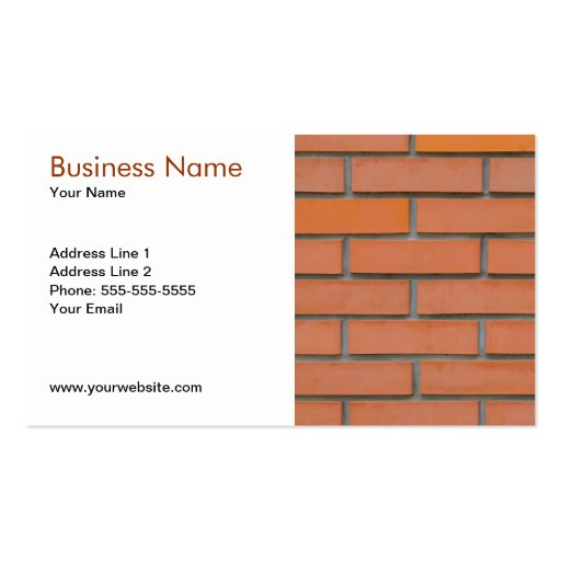 Building Industry Business Card Template