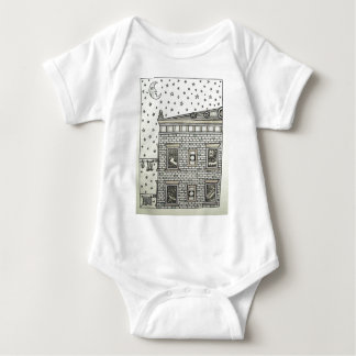 Building Inking by Piliero Baby Bodysuit