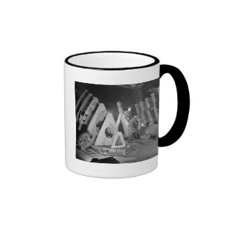 Building Liberty Ships, 1941 Ringer Coffee Mug