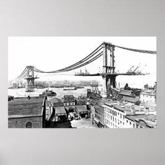 Building Manhattan Bridge Poster