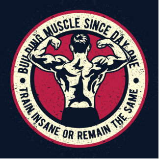 Building Muscle Train Insane or Remain The Same Statuette