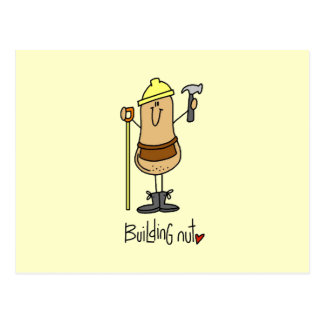 Building Nut T-shirts and Gifts Postcard