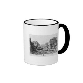 Building of Avenue de l'Opera 2 Ringer Coffee Mug