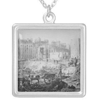 Building of Avenue de l'Opera Silver Plated Necklace