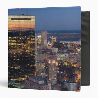 Building of Boston with light trails on road 3 Ring Binder
