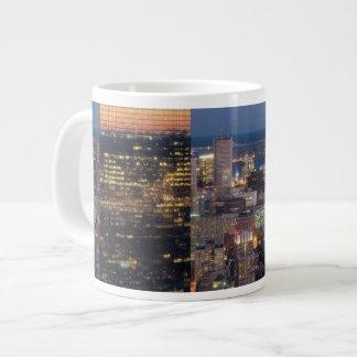 Building of Boston with light trails on road 20 Oz Large Ceramic Coffee Mug