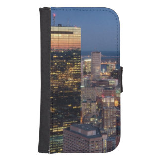 Building of Boston with light trails on road Wallet Phone Case For Samsung Galaxy S4