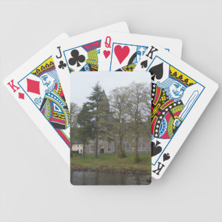 Building of St Benedict Abbey at the shore Bicycle Poker Deck