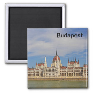 Building of the Budapest parliament, Hungary 2 Inch Square Magnet