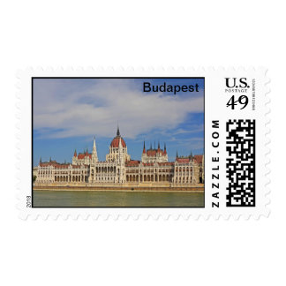 Building of the Budapest parliament, Hungary Postage Stamp