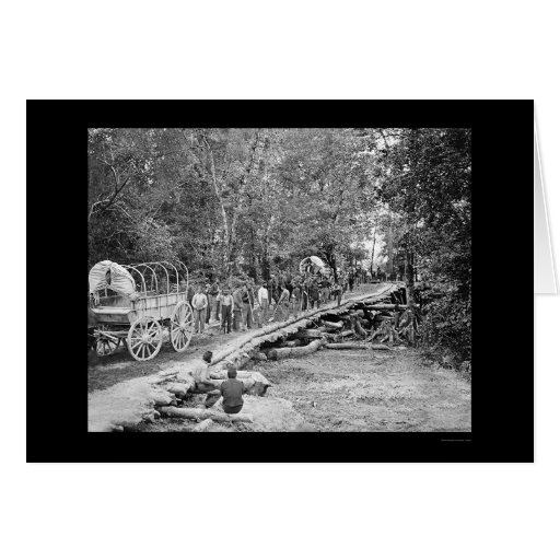 Building of the Grapevine Bridge 1862 Greeting Cards