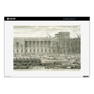 """Building of the Main Entrance of the Louvre, Paris 15"""" Laptop Decal"""