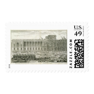 Building of the Main Entrance of the Louvre, Paris Postage