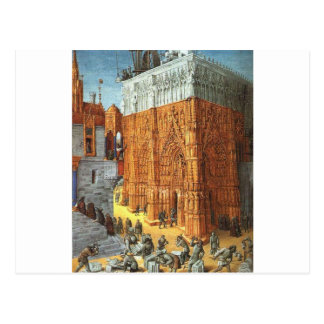 Building of the Temple of Jerusalem by Jean Fouque Postcard