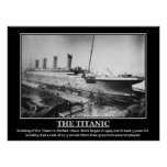 Building of Titanic 1909 Vintage Image Posters