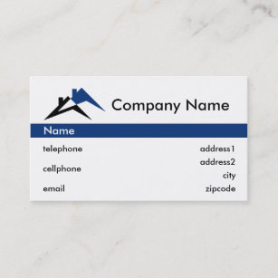 Roofing business cards zazzle building or roofing business card design colourmoves