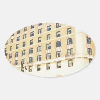 Building Oval Sticker