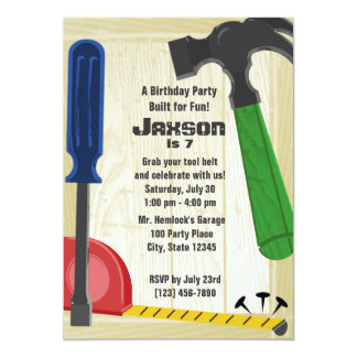 """Building Party 5"""" X 7"""" Invitation Card"""