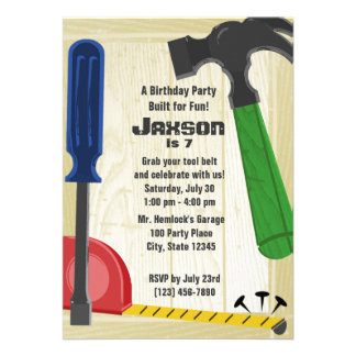 Building Party Personalized Invitation