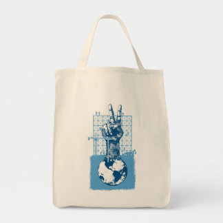 Building Peace Blue Grocery Tote