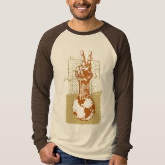 Building Peace Brown Long Sleeve Raglan T-Shirt