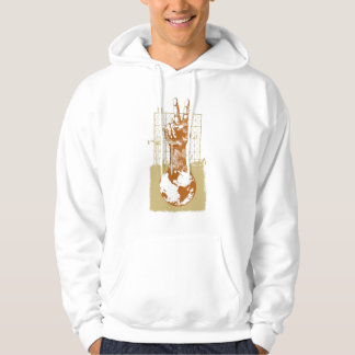 Building Peace Brown on White Hoodie