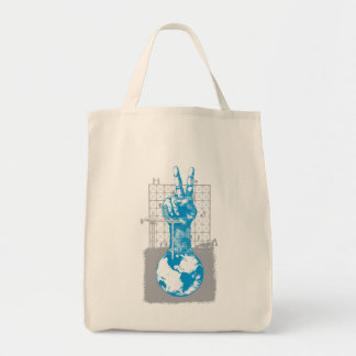 Building Peace Gray Grocery Tote