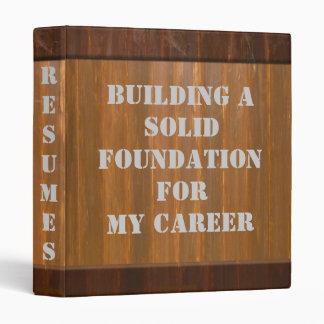Building Permit - Designer Resume Binder