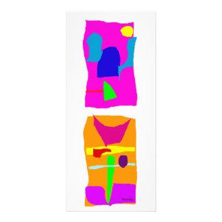 Building Pink and Orange Rack Card Design
