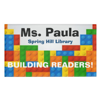 Building Readers Name Tag