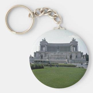 Building, Rome Basic Round Button Keychain