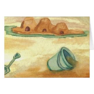 Building Sand Castles CricketDiane Art & Design Greeting Card