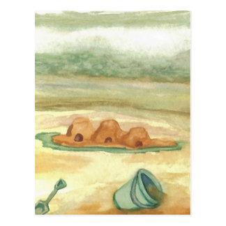 Building Sand Castles CricketDiane Art & Design Postcard