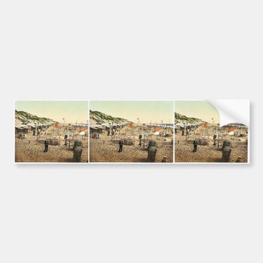 Building sand castles, Westerland, Sylt, Schleswig Car Bumper Sticker
