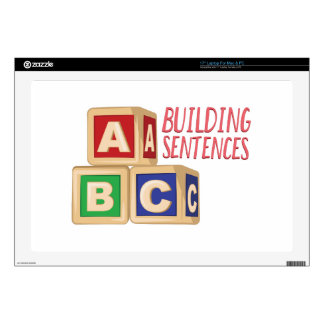 "Building Sentences 17"" Laptop Skin"