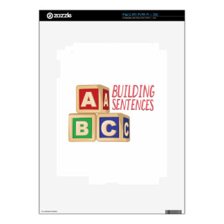 Building Sentences Decal For The iPad 2