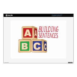 Building Sentences Laptop Skins