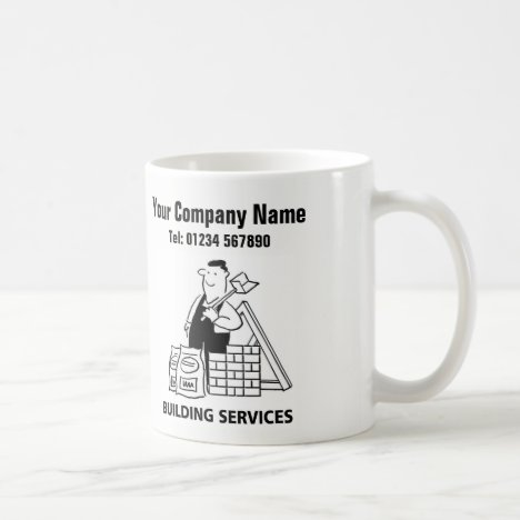 Building Services Cartoon Mug