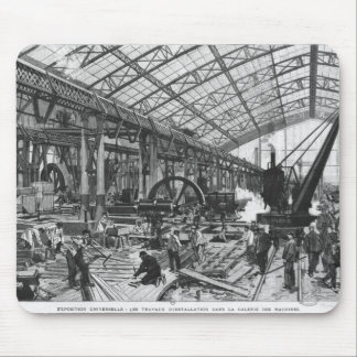 Building site of the Galerie des Machines Mouse Pad