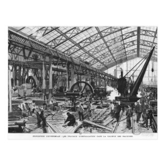 Building site of the Galerie des Machines Postcard