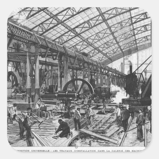 Building site of the Galerie des Machines Square Sticker