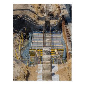 building site postcard