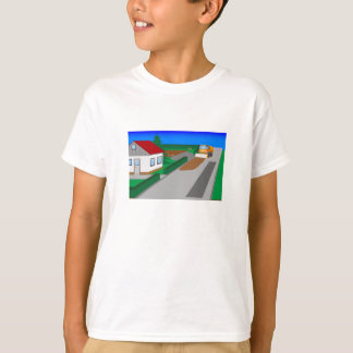 Building site with sweeping machine T-Shirt