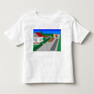 Building site with sweeping machine toddler t-shirt