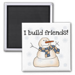 Building Snow Friends Tshirts and Gifts Magnets