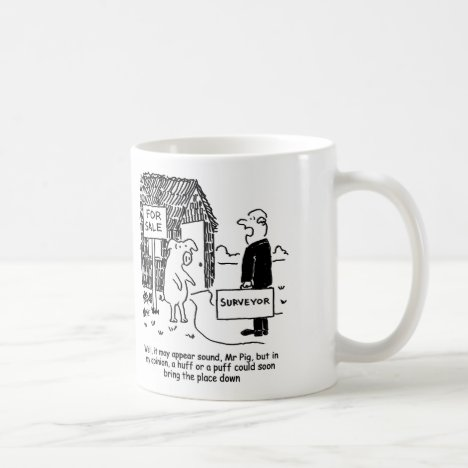 Building Surveyor looks at Mr Pig's house Coffee Mug