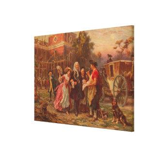 Building the cradle of Liberty Jean Gerome Ferris Canvas Print
