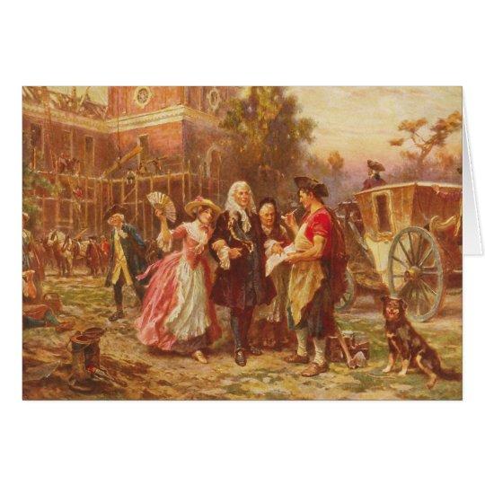 Building the Cradle of Liberty Jean Gerome Ferris Card